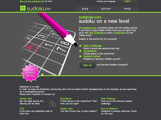 Jouer au sudoku en ligne avec Sudokular...