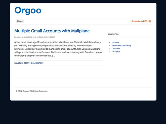 Orgoo, pour centraliser vos mails et autres...