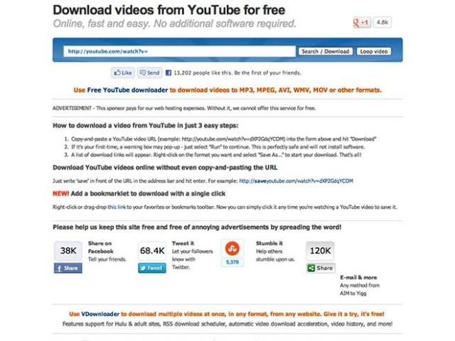 Télécharger des vidéos sur YouTube...