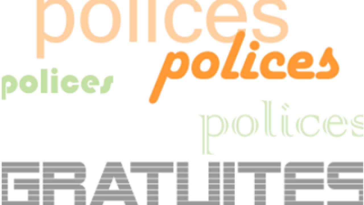 25 sites de polices gratuites…