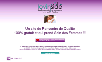 lovinside le site de rencontre gratuit et romantique. Black Bedroom Furniture Sets. Home Design Ideas