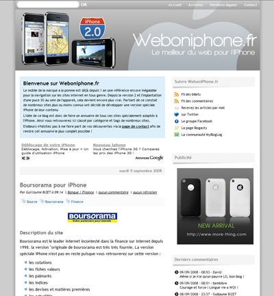 weboniphone