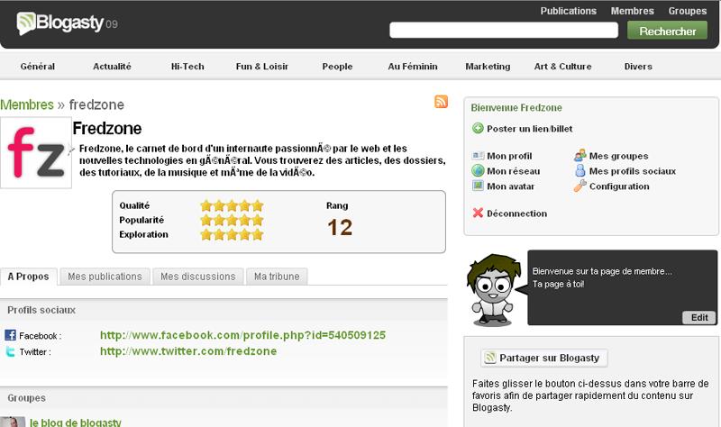 Blogasty 09 : le profil