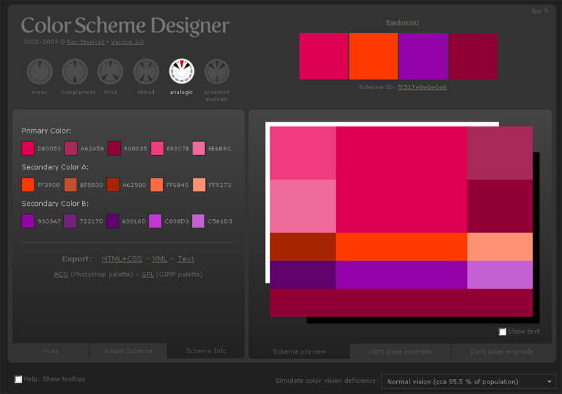 Color Scheme Designer : simple, efficace et gratuit.