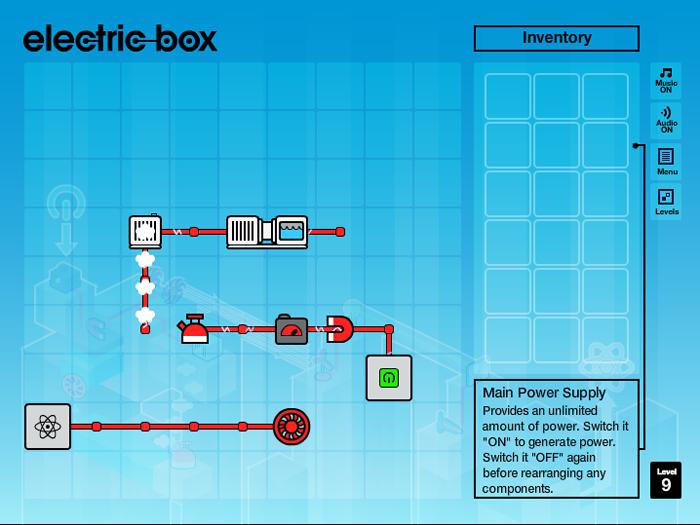 Electric Box peut s'apparenter à un puzzle, mais de loin.