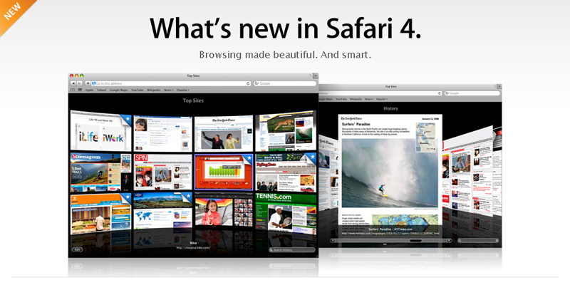 Safari 4 est dans les bacs !