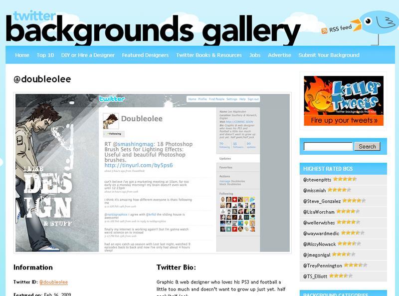 Twitter Backgrounds Gallery : la fiche d'un background...