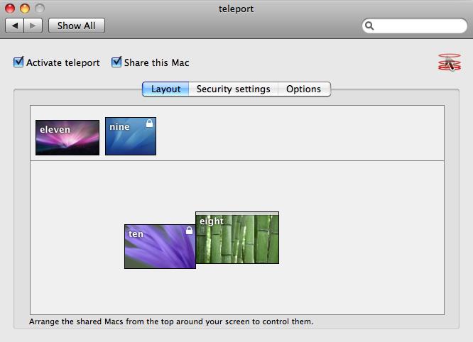 Teleport, pour contrôler simultanément plusieurs postes de travail Mac