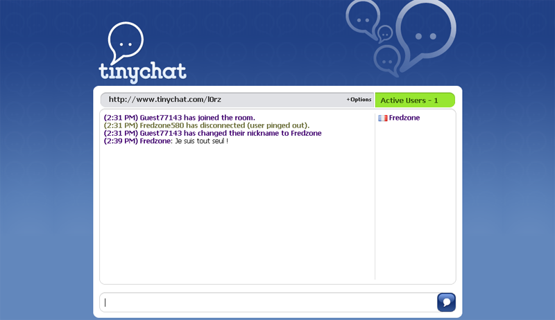 """TinyChat : ma """"Chat Room"""" personnelle ;)"""