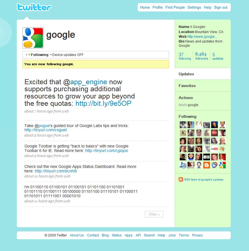 Le nouveau Twitter de Google