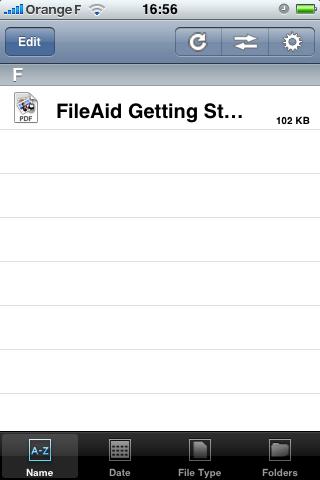 FileAid : l'accueil avec le guide PDF