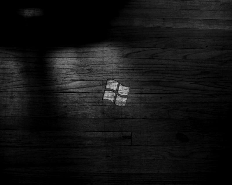 Windows, du bois, tout ça en noir !