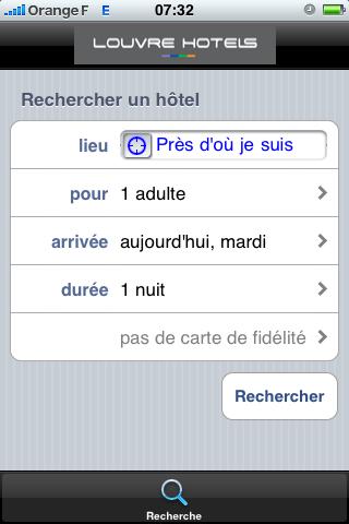 HotelForYou : la recherche