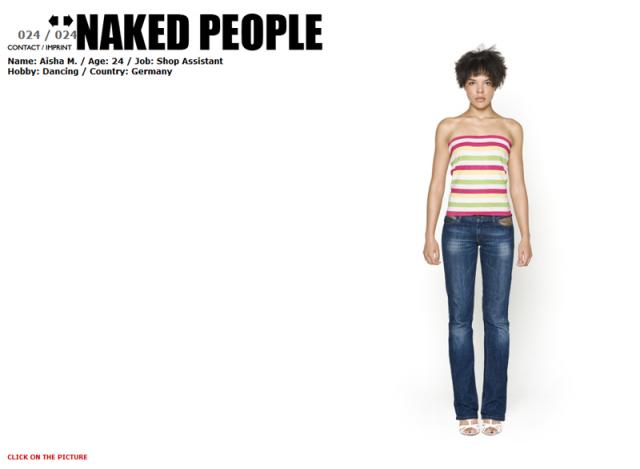 Naked People : un modèle habillé...