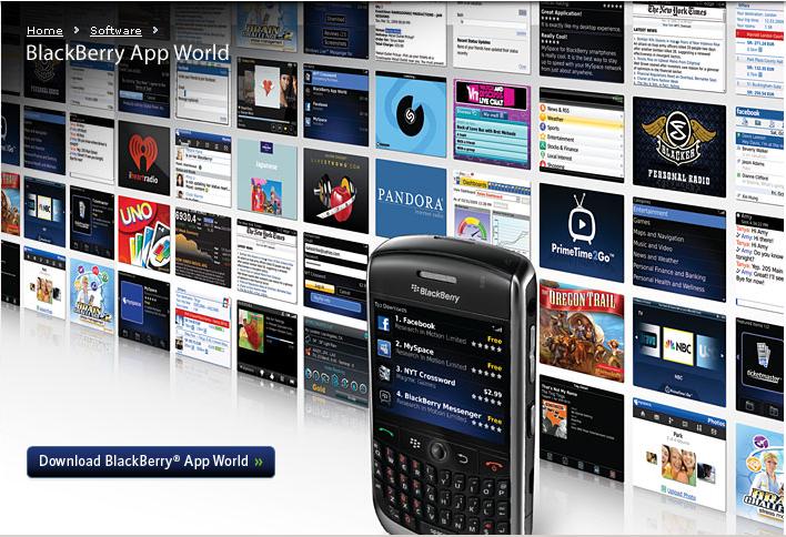 Le Blackberry App World ouvre ses portes