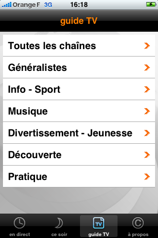 TV Orange : les chaînes thématiques