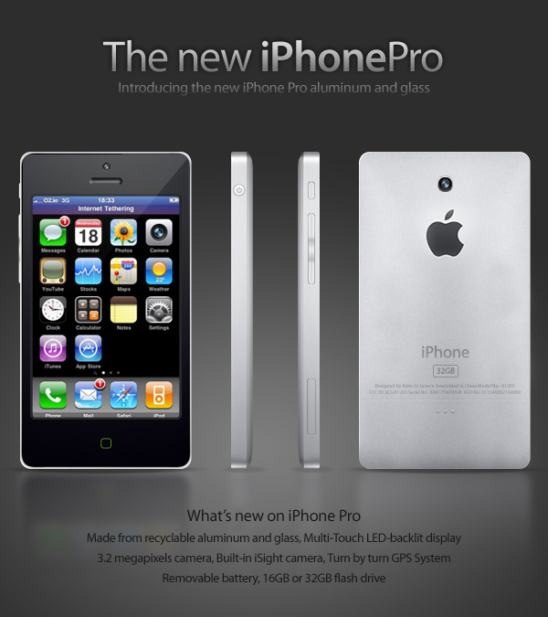 iPhone Unibody : recto et verso