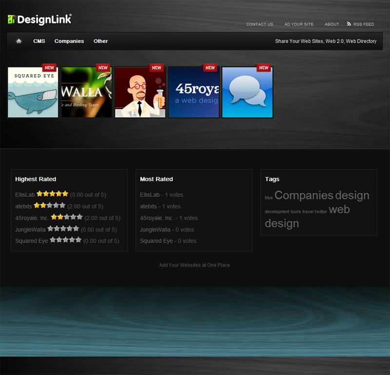 AdDesignLink : l'accueil du service