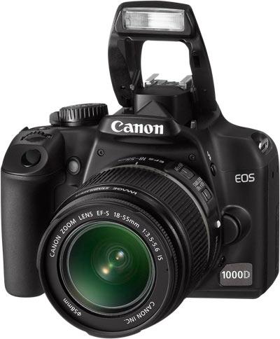 Le Canon EOS 1000D - Vue de face