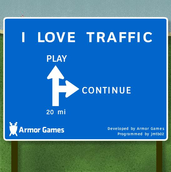 I Love Traffic : l'écran d'accueil