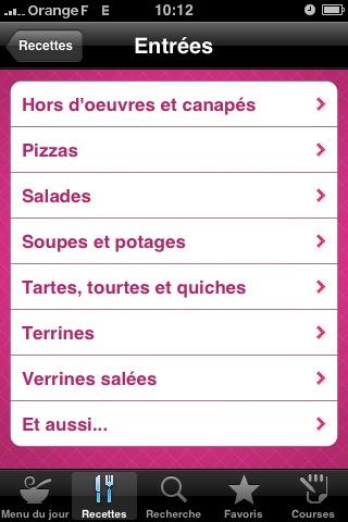 Cuisine AZ : les catégories