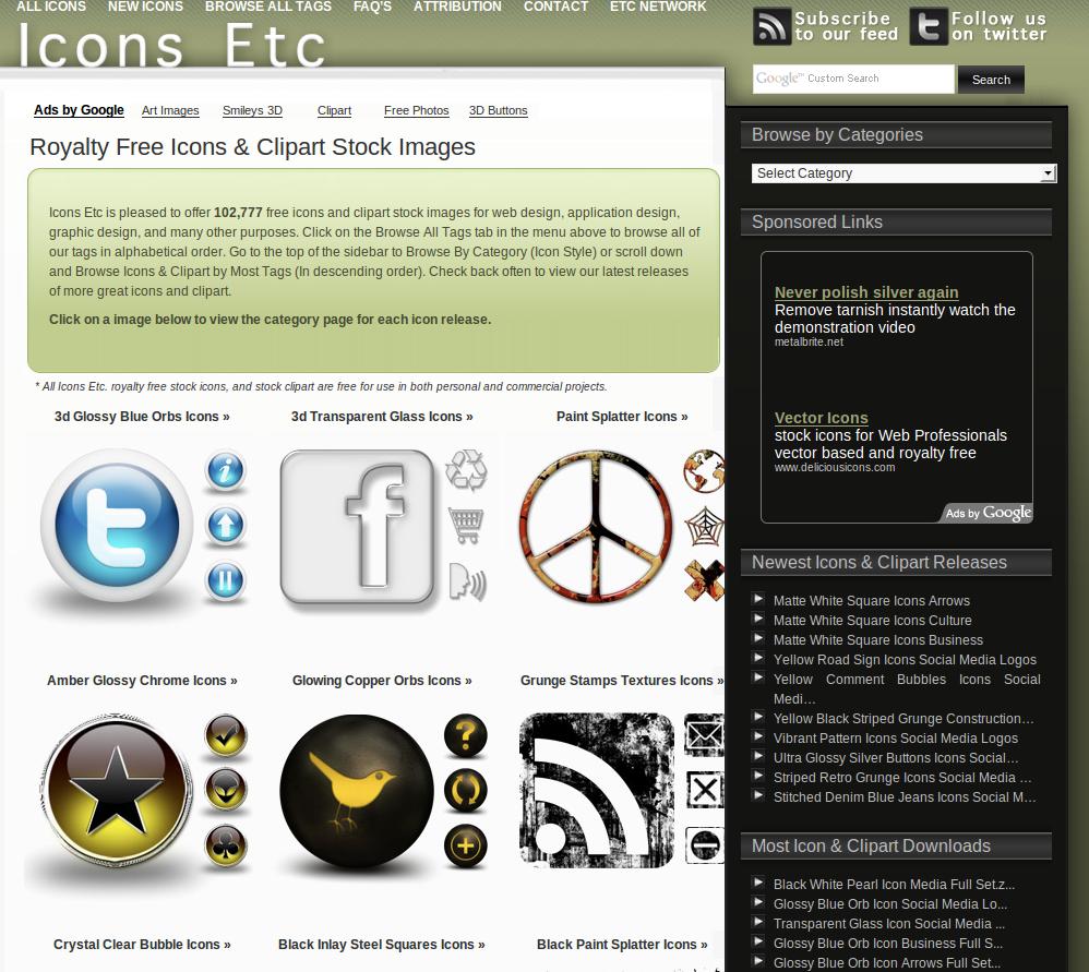 Icons Etc, tout pour chopper de chouettes icônes