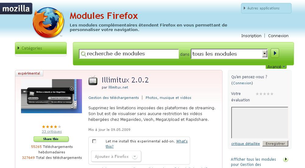 Illimitux, un chouette plugin pour Firefox