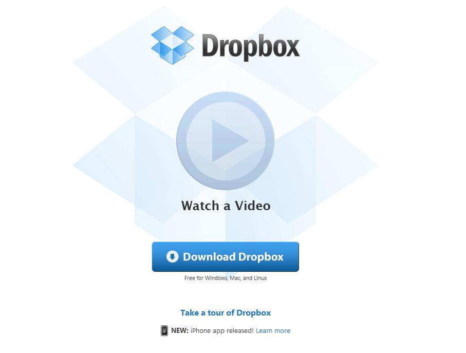 DropBox est disponible sur l'AppStore