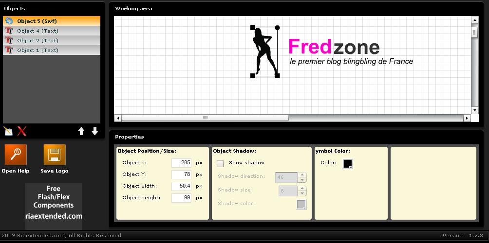 Online Logo Maker, l'application en image