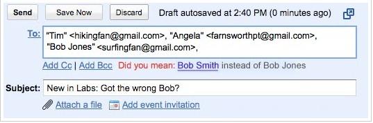 Gmail vous empêche de vous tromper de destinataire