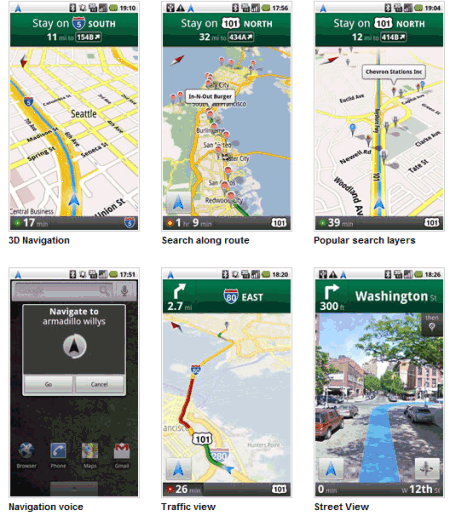 Google Maps Navigation : des captures en pagaille