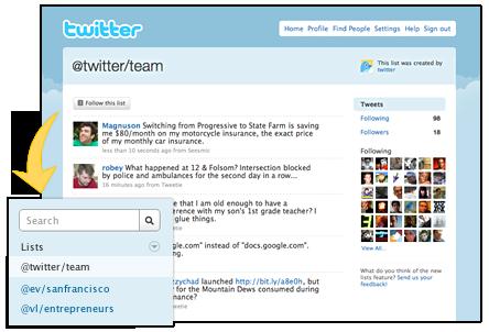 Twitter Lists, pour promouvoir ses followers