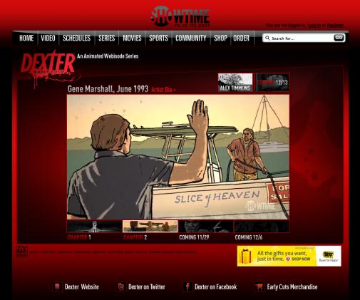 Dexter Early Cuts, les débuts de Dexter en série animée