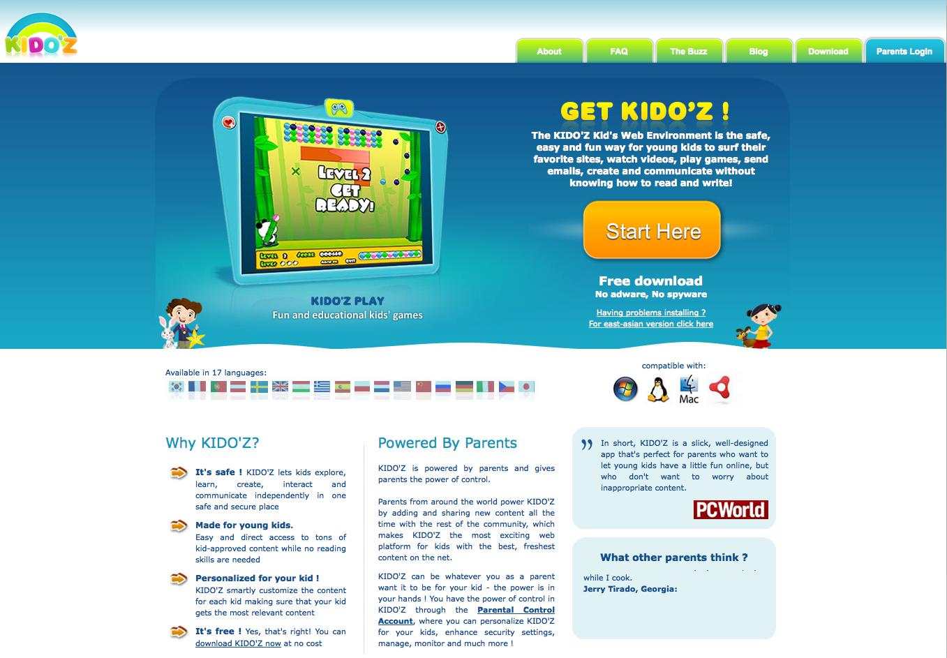 Kido'z, un Web OS pour les enfants