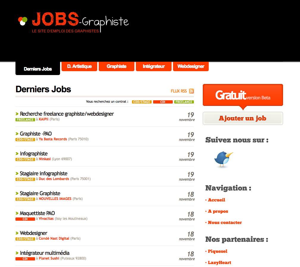 Sites d'emploi pour adolescents