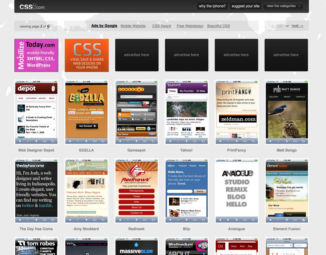 CSSiPhone, une galerie dédiée à l'iPhone