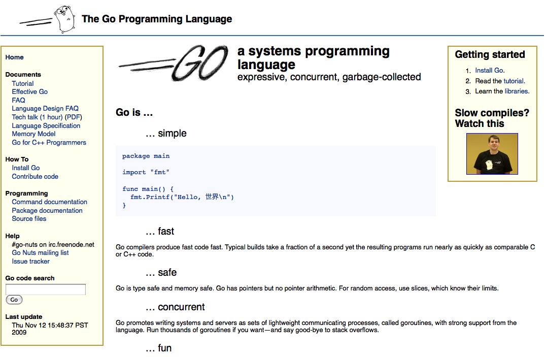 Go, le langage de développement de Google