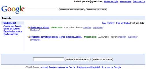 Google Bookmarks par l'exemple