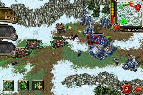 Command & Conquer Red Alerte sur l'iPhone, une première vue du jeu