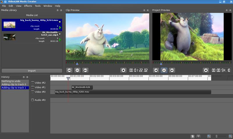VLMC : un éditeur vidéo par les créateurs de VLC Media Player