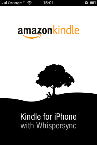 Amazon Kindle for iPhone, la page d'accueil