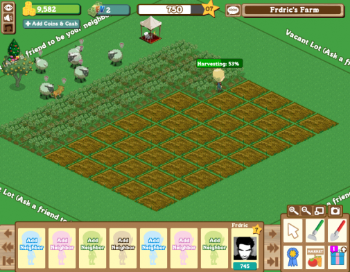 Jeu Facebook : FarmVille