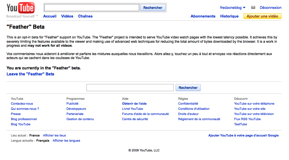 YouTube Feather, un YouTube light pour toutes les configurations