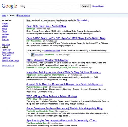 Google, la recherche instantanée en image
