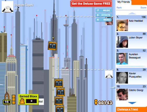 Jeu Facebook : Tower Bloxx