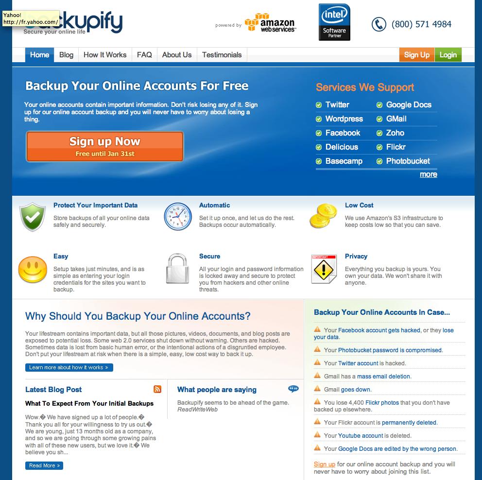 Backupify, pour sauvegarder son identité numérique