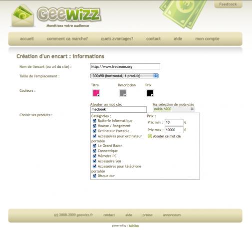 Geewizz, capture 2