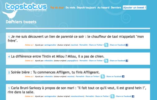 Topstat.us, le BashFR version Twitter