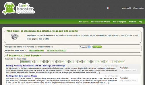 GeekBooster, le buzz communautaire
