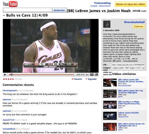 YouTube Feather, on voit bien la différence, non ?